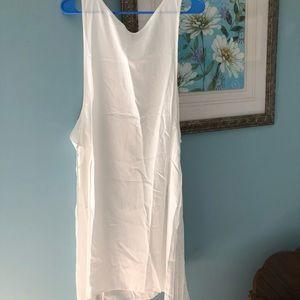 New White soft comfy summer  dress M